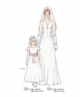 301-05 Bridal dress pattern girl women