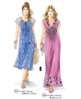 301-07 long dress pattern women