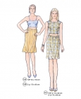 301-11 top skirt dress pattern