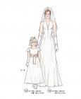 301-05 Bridal dress pattern girl women