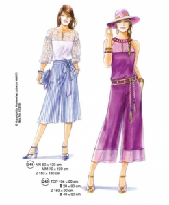 302-01 skirtpants pattern