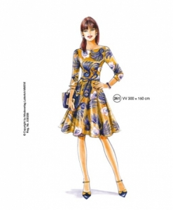 302-09 chic dress sewing pattern
