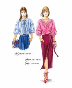 302-11 blouse skirt