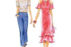 302-13 fashionable dress pattern