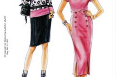 316 blouse & skirt